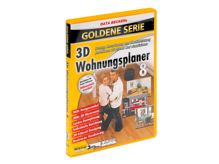 data becker 3d wohnungsplaner 8 german dvd iso. Black Bedroom Furniture Sets. Home Design Ideas