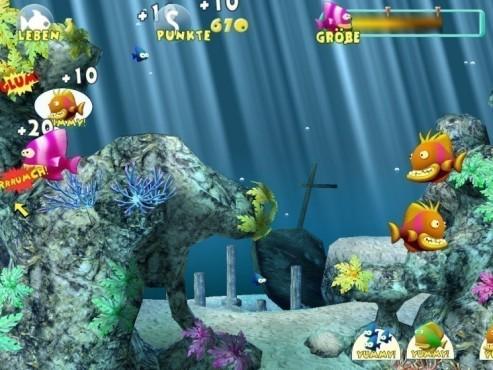 Actionspiel Little Piranha: Unterwasserwelt