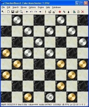 Denkspiel Checkerboard: Spielfeld