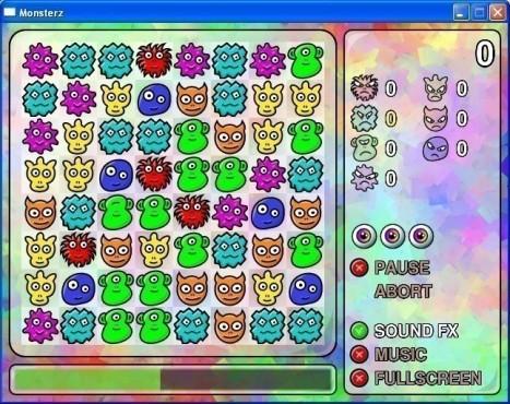 Geschicklichkeitsspiel Monsterz: Spielfeld