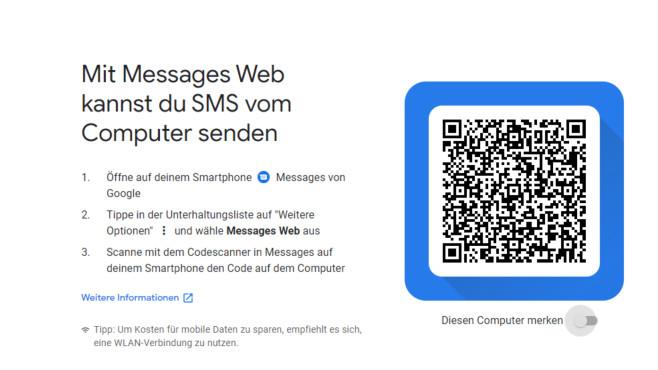 Android Messages für Windows (Web) ©COMPUTER BILD