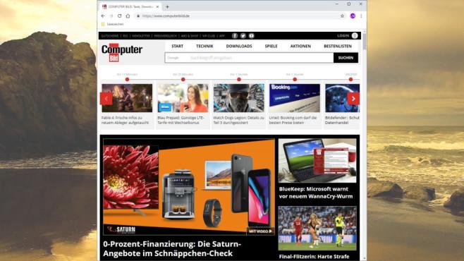 Google Chrome: Im Web surfen ©COMPUTER BILD