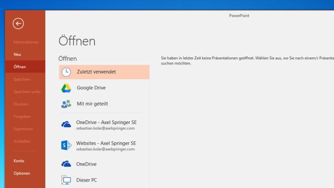 Google Drive Plug-in für Microsoft Office: In der Cloud speichern ©COMPUTER BILD