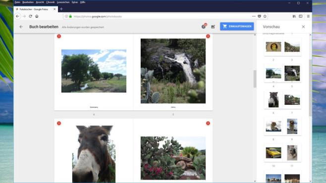 Google Fotobücher: Fotogeschenke zusammenstellen ©COMPUTER BILD