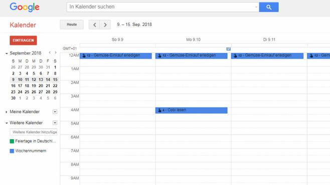 Google Kalender (Google Calendar): Termine managen ©COMPUTER BILD