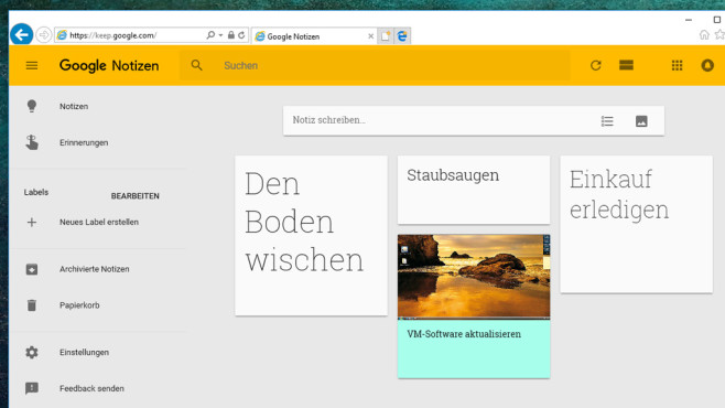 Google Notizen (Keep): Erledigungen notieren ©COMPUTER BILD