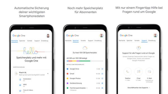 Google One (App): Handy-Daten in der Cloud sichern ©COMPUTER BILD
