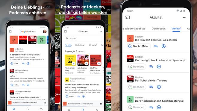 Google Podcasts (App): Podcasts streamen ©COMPUTER BILD