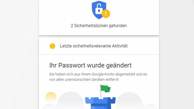 Google Security Wizard: Sicherheit akribisch prüfen ©COMPUTER BILD