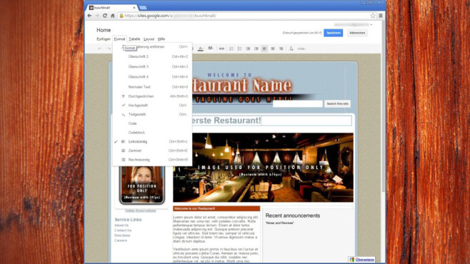 Google Sites: Webseiten erstellen ©COMPUTER BILD
