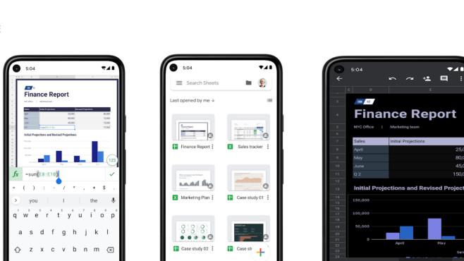 Google Tabellen (App) ©COMPUTER BILD