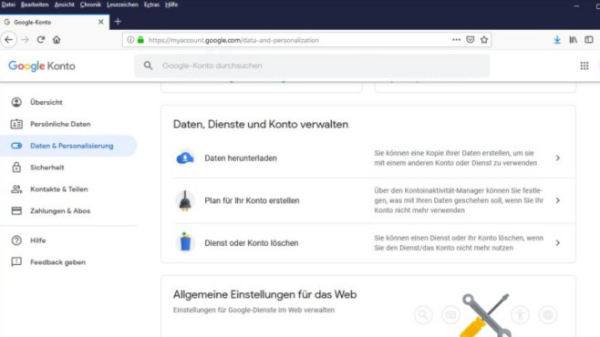 Google Takeout: Eigene Google-Daten herunterladen ©COMPUTER BILD