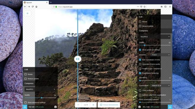 Squoosh: Bilder im Browser komprimieren ©COMPUTER BILD