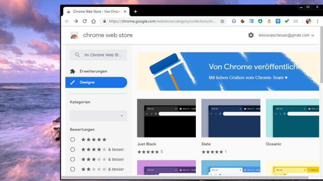 Themes für Google Chrome ©COMPUTER BILD