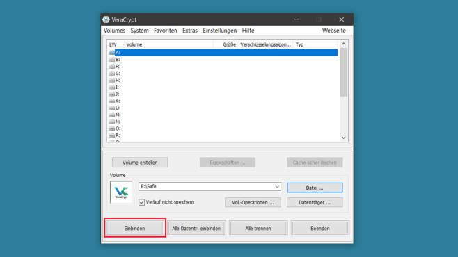 VeraCrypt: Laufwerk verschlüsseln ©COMPUTER BILD