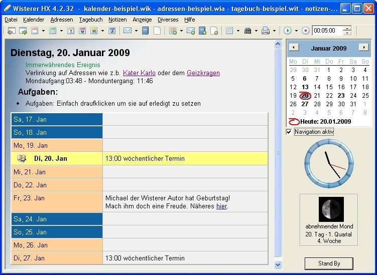 Screenshot 1 - Wisterer HX Portable