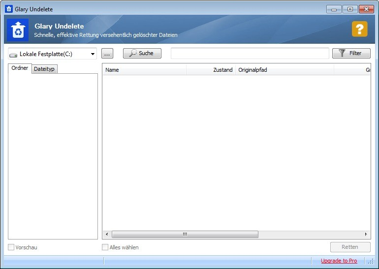Screenshot 1 - Glary Undelete