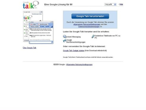 Screenshot: Google Talk