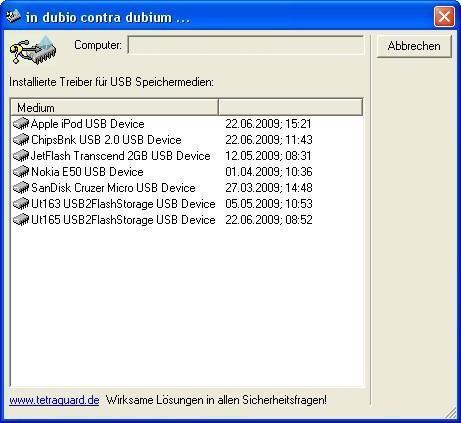 Screenshot 1 - Dubium