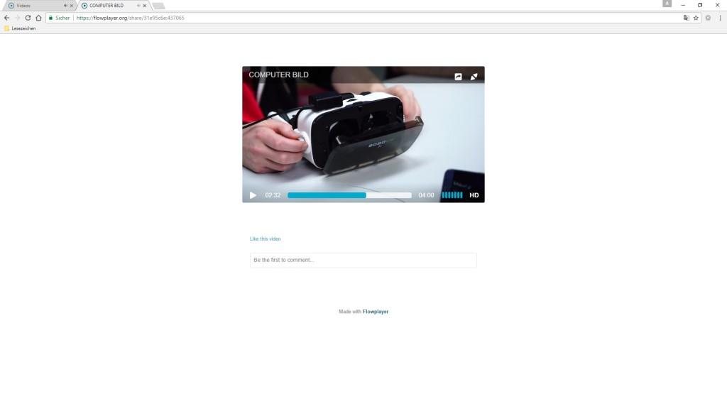 Screenshot 1 - Flowplayer