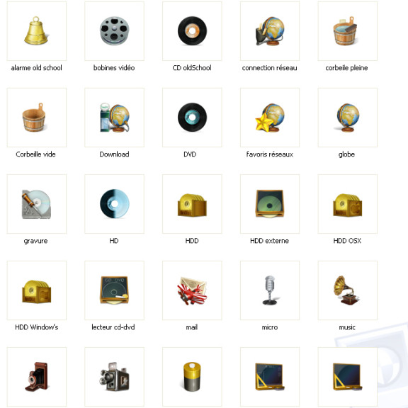Screenshot 1 - Old School Icons