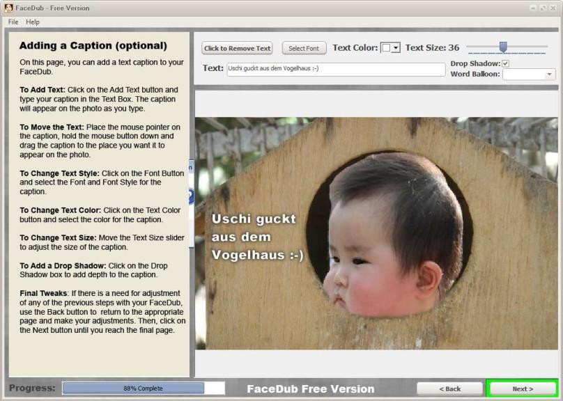 Screenshot 1 - FaceDub