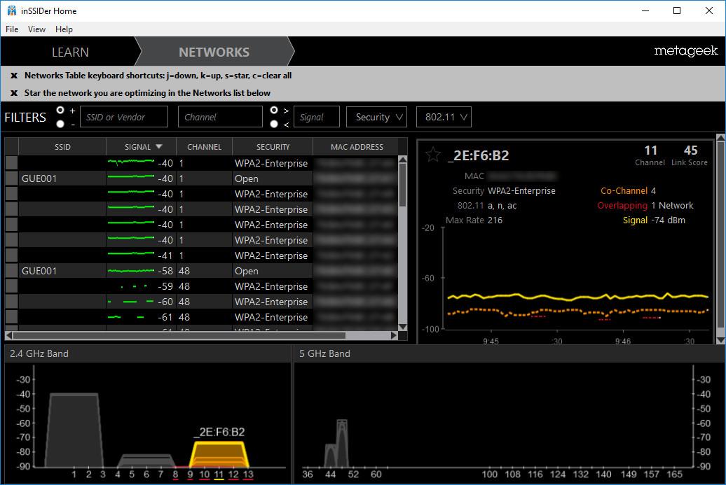 Screenshot 1 - inSSIDer Home
