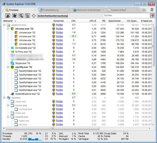 Screenshot 1 - System Explorer