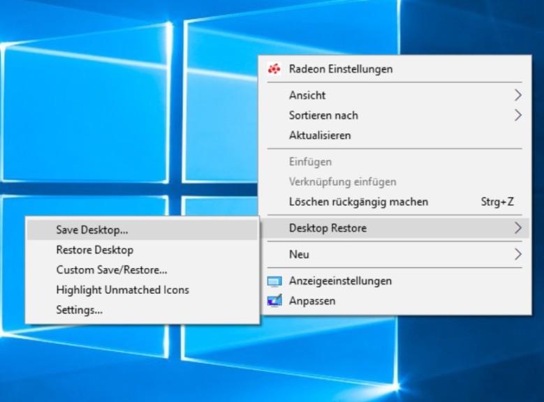 Screenshot 1 - Desktop Restore