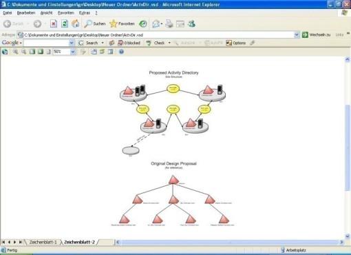 Visio 2007 Viewer: Organisations-Programm