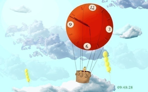 Balloon Clock ScreenSaver
