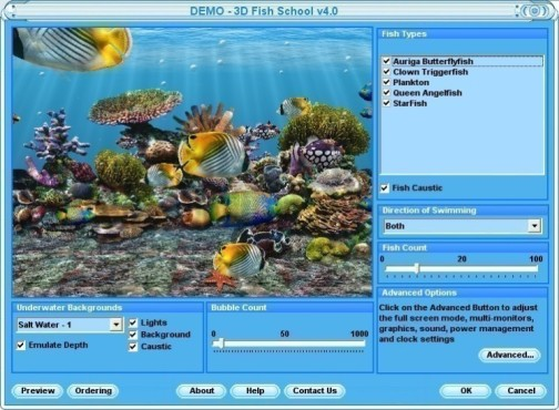 Fish School Screensaver