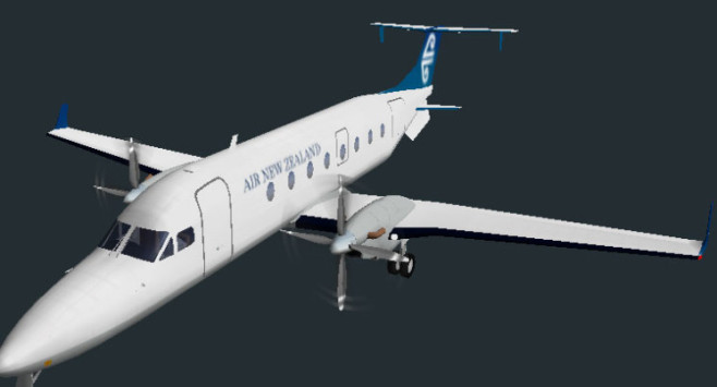 Flugsimulator Flight Gear: Beechcraft 1900D © Curtis Olson