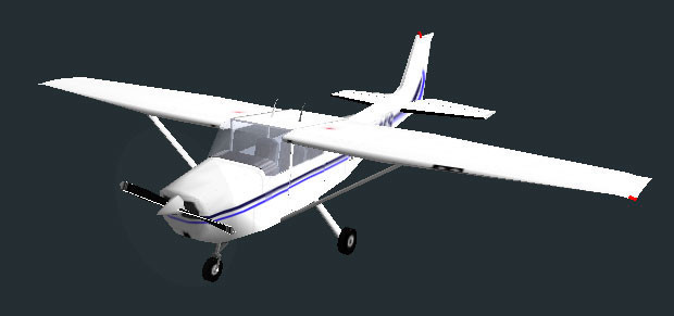 Flugsimulator Flight Gear: Cessna © Curtis Olson