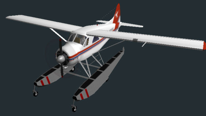 Flugsimulator Flight Gear: DHC-2 Beaver © Curtis Olson