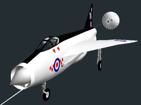 Flugsimulator Flight Gear: English Electric Lightning © Curtis Olson