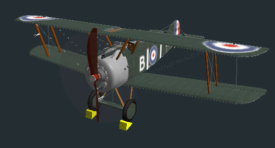 Flugsimulator Flight Gear: Sopwith F-1 Camel © Curtis Olson