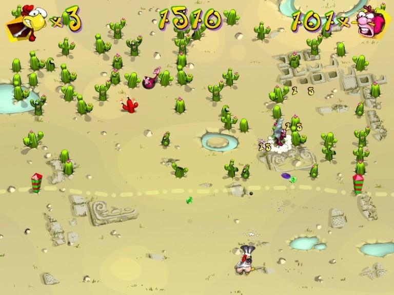 Screenshot 1 - Hühner-Rache Deluxe – Kostenlose Vollversion