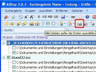 AllDup: Datenklone markieren