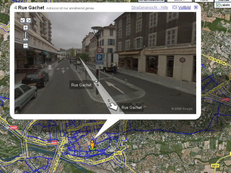 Street View Google Tour De France Computer Bild
