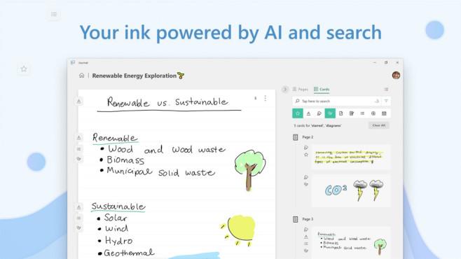 Microsoft Journal (Windows-10-App, Office) ©COMPUTER BILD