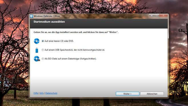 Microsoft Windows Defender Offline (Sicherheit) ©COMPUTER BILD
