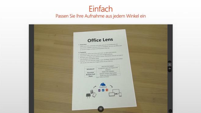 Office Lens (Windows-10-App, Multimedia) ©Microsoft