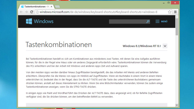 Tastenkombinationen für Windows (Büro) © COMPUTER BILD
