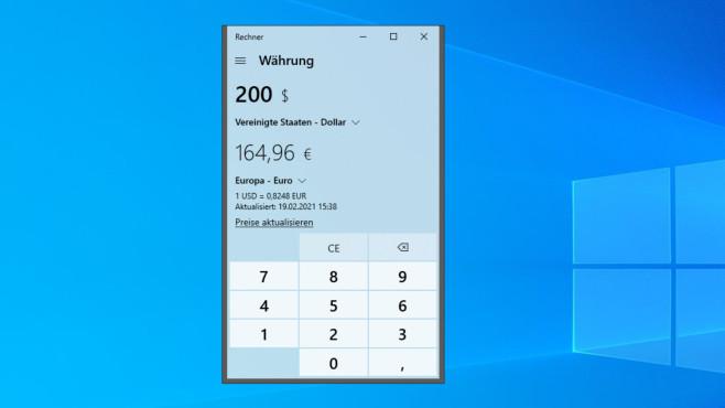 Windows-Rechner (Windows-10-App) ©COMPUTER BILD