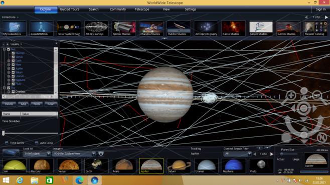WorldWide Telescope: Weltraum-Erkundung ©COMPUTER BILD