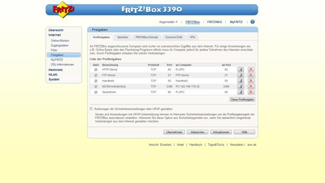 Router-Tipp: Portfreigabe©COMPUTER BILD