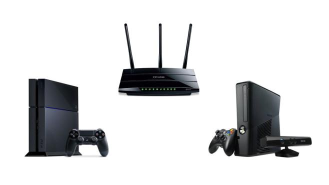 Spielekonsole mit dem Router verbinden©TP Link, Sony, Microsoft