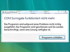 Fehlermeldung: COM-Surrogate