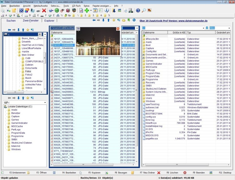 Screenshot 1 - DateiCommander Free